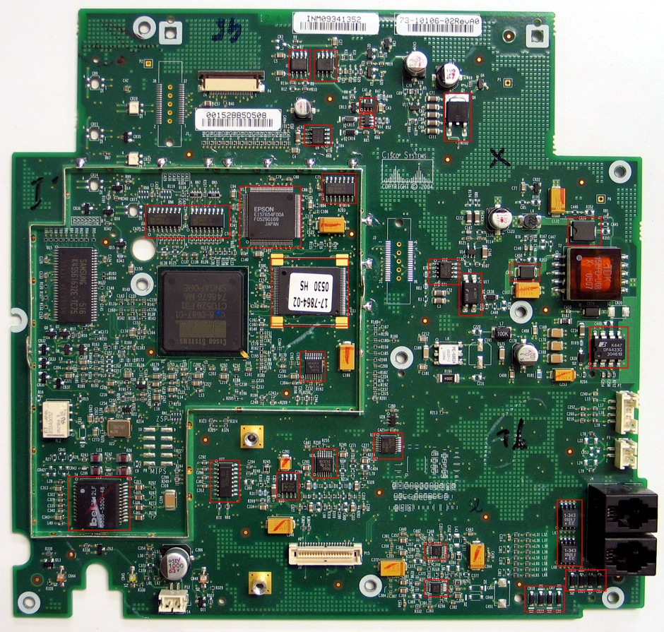Cisco-7941-7961-GREEN-PCB_marked